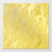 gold foil Canvas Prints featuring Gold Foil by Sweet Karalina