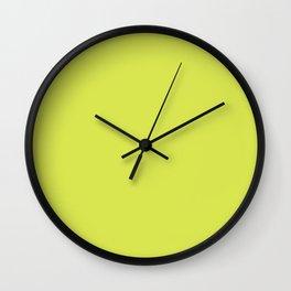 Maximum Green Yellow - solid color Wall Clock