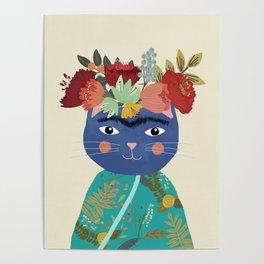 Frida Cat Poster
