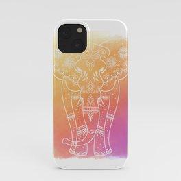 Henna Elephant iPhone Case