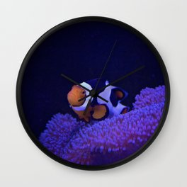 Clownfish at Home Wall Clock