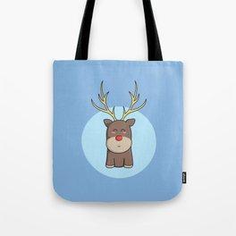 Cute Kawaii Christmas Reindeer Tote Bag