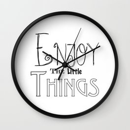 Enjoy The Little Things - Word Font Wall Clock