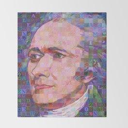 Portrait Of Alexander Hamilton Throw Blanket