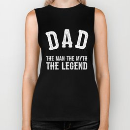 Dad The Man The Myth The Legend Biker Tank