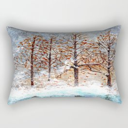 Snow Flurries on Moon Lake up Dewdrop Holler Rectangular Pillow