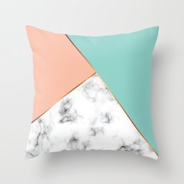 Marble Geometry 056 Throw Pillow