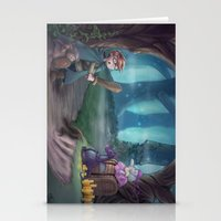 adventure is out there Stationery Cards featuring Adventure by aokstudios