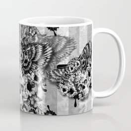 Lost and Found, floral owl with sugar skull Coffee Mug
