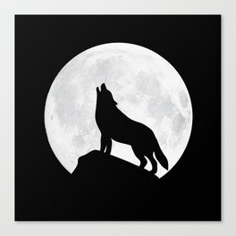 Howling Wolf - Moon Canvas Print