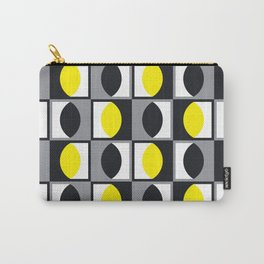 Geometric Pattern 216 (yellow gray curves) Carry-All Pouch