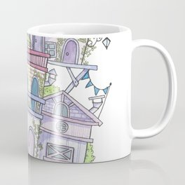 Pink Floating City Coffee Mug
