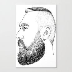 beard gold Canvas Print