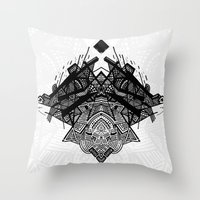 spaceship Throw Pillows featuring Spaceship by Hngeb