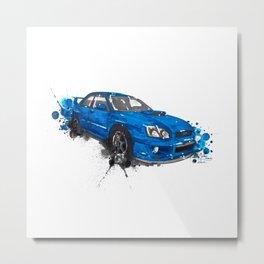 Subaru Impreza Metal Print
