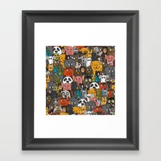 plushies Framed Art Print