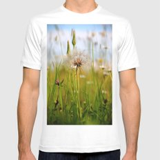 Summer Meadow Breeze White SMALL Mens Fitted Tee