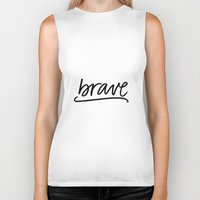 brave Biker Tanks featuring Brave by eleahramos