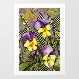 Pansies Art Print