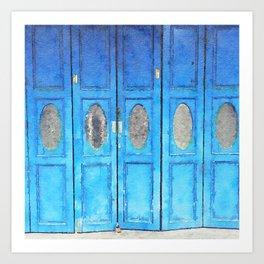Blue doors Art Print