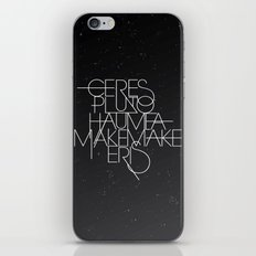 The Five Dwarf Planets iPhone & iPod Skin