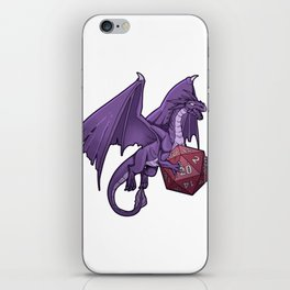 Awesome Retro Dragon Tabletop Gaming Gift Dragons D20 Dice Print iPhone Skin