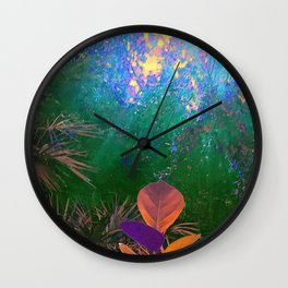 Sunlight in the Enchanted Forest Wall Clock