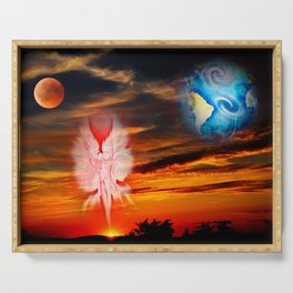 Full moon - Fascination Blood moon Serving Tray
