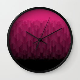 Magenta to Black Ombre Signal Wall Clock