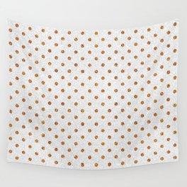 Elegant white modern faux gold glitter polka dots Wall Tapestry