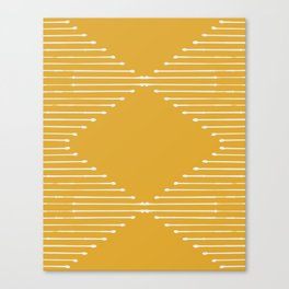 Geo / Yellow Canvas Print