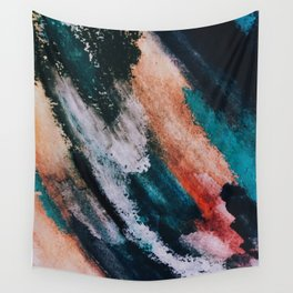 Chaos: a mixed media abstract in a variety of vibrant colors Wall Tapestry
