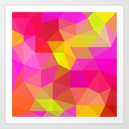 Citrus Candy Low Poly Art Print