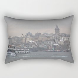 Galata tower, Karaköy, Istanbul - view across Golden Horn of the Bosphorus Rectangular Pillow