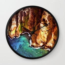 Tropical Coastline Hawaii of the Isolated Napali Coast Wall Clock