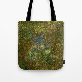Old stone wall with moss Tote Bag