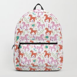 Pink and Coral Unicorns Backpack