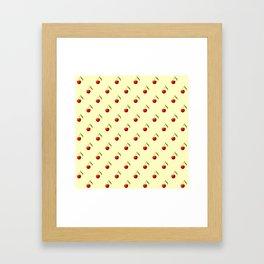 CHERRIES ON CREAM Framed Art Print