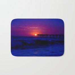 Wicked Blue Beach Sunset Bath Mat