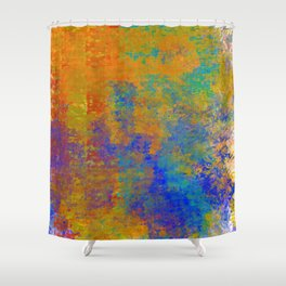 Abstract in Washed Textures Shower Curtain