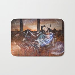 Hells Angel Bath Mat