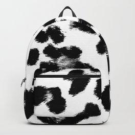 Black & White Leopard Print Backpack