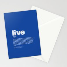 definition LLL - Live 6 Stationery Cards