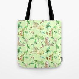 Watercolor Zoo Tote Bag