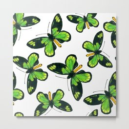 Queen Victoria' s birdwing butterfly pattern Metal Print