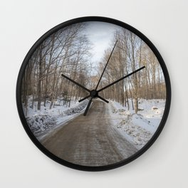 Menominee Lake Road Wall Clock