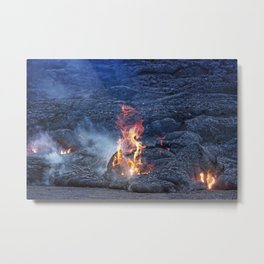 Kilauea Volcano Lava Flow. 5 Metal Print