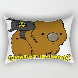 Combat Wombat Rectangular Pillow