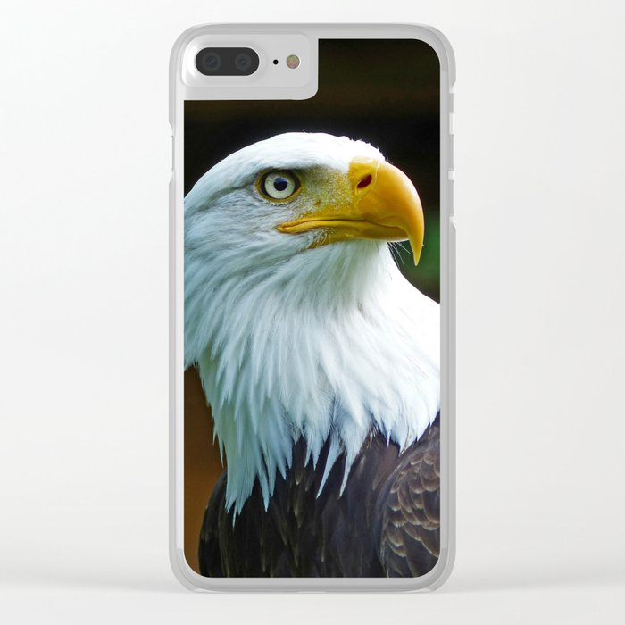 American Bald Eagle Head Clear iPhone Case