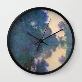 "Claude Monet ""Morning on the Seine near Giverny"" Wall Clock"